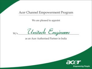 acer certificate