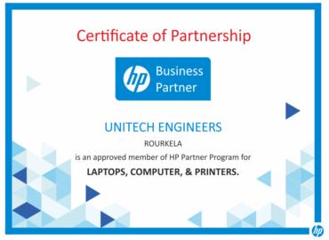 hp certificate